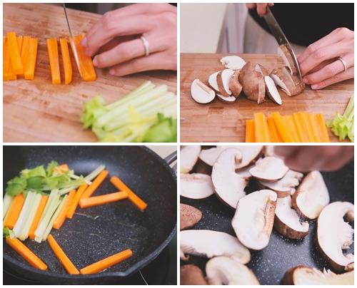 Thịt ba chỉ cuộn rau củ ngon cơm - 1