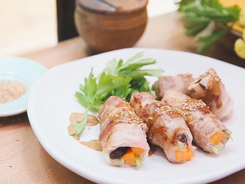 Thịt ba chỉ cuộn rau củ ngon cơm - 7