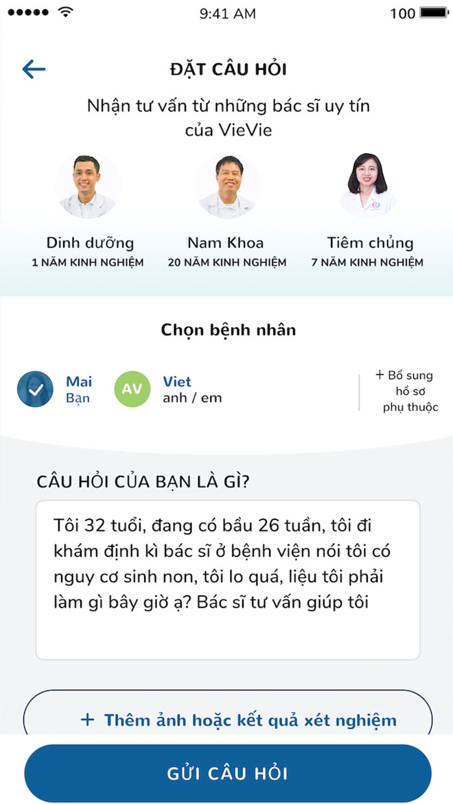 úng dụng y té di dọng vievie - diẻm cọng lón két nói nguòi bẹnh voi chuyen gia - 2