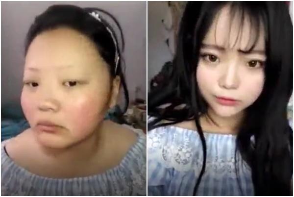 "mot giay lo tay tat filter ""song ao"", hotgirl trieu follow de lo nhan sac xau giat minh - 1"