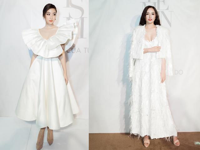 HH đại gia Mai Phương Thuý và Đỗ Mỹ Linh thắp sáng thảm đỏ thời trang với váy trắng