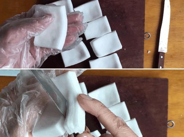 Sắt dừa thành miếng hình vuông sau đó thái nhỏ - 10