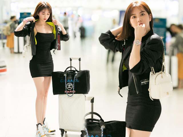 Ngọc Trinh gây náo loạn sân bay bằng váy áo hờ hững, khoe vòng 3 cong vút