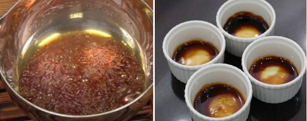 Đun hỗn hợp caramen và múc ra cốc - 1