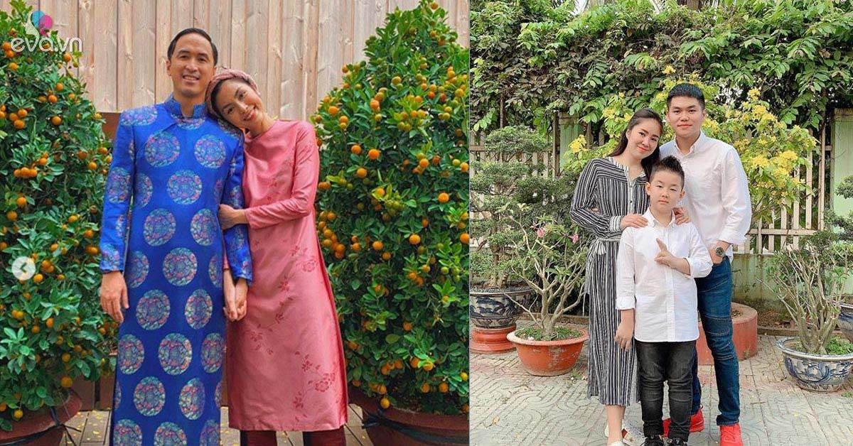 Sao Việt đầu xuân: Bà bầu Lê Phương cùng chồng con về quê ngoại đón cái Tết đặc biệt