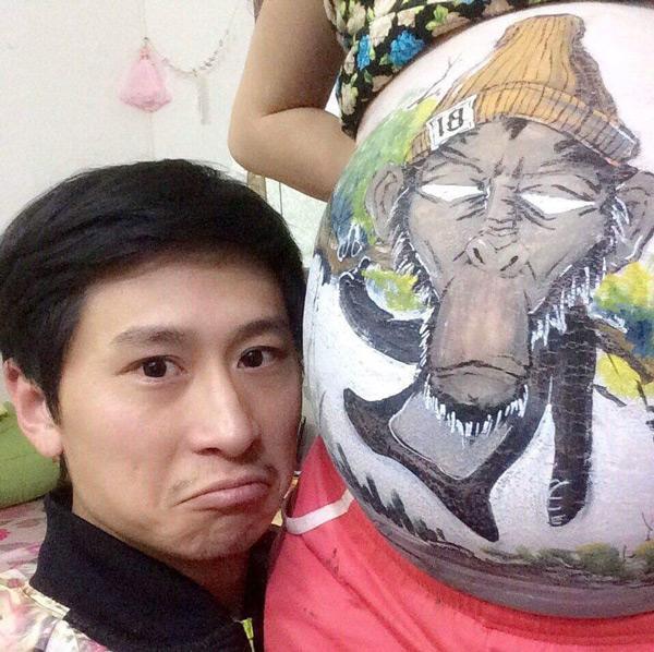 """giuc di chup anh bau ma vo so xau, chong """"nay"""" y tuong cuc doc de ki niem mang thai - 3"""