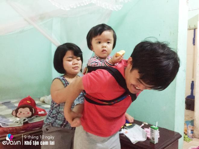 """vo tre hung yen chi cao 1m sinh con lanh lan, chong """"ti hon"""" cho ngoai phong de tho phao - 1"""