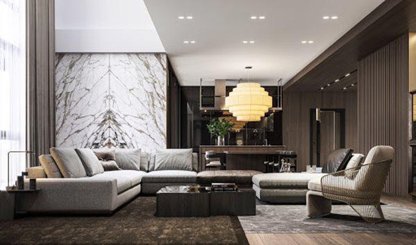 Tổng hợp mẫu nội thất phòng khách đẹp có thiết kế vạn người mê - 9