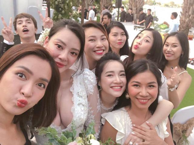 Nhã Phương đi đám cưới bạn thân, nhưng bị lu mờ bởi vòng một bốc lửa của cô dâu!