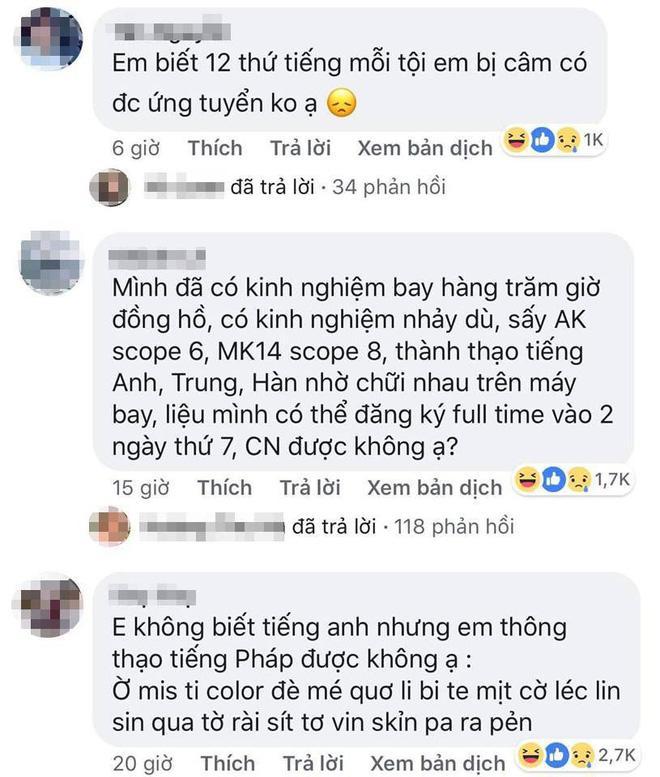 "chet cuoi voi ung vien ""lay loi"" muon lam tiep vien hang khong nhung ""luc bat tong tam"" - 7"