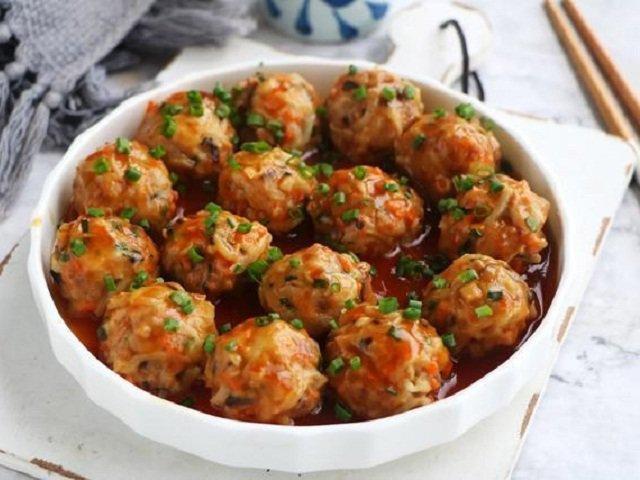 Thịt viên rau củ ít thịt nhiều rau không ngấy mà ngon hết sảy