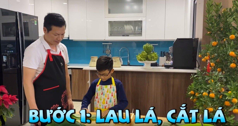 """shark hung day con trai goi banh chung, cu cau dang yeu """"gay sot"""" - 4"""
