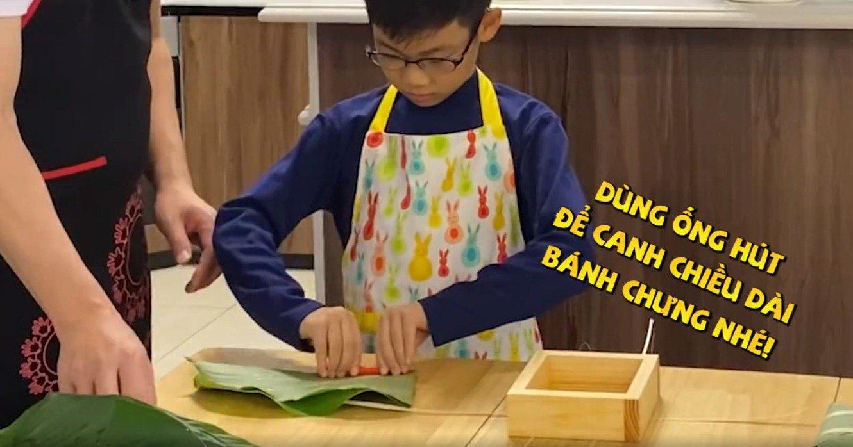"""shark hung day con trai goi banh chung, cu cau dang yeu """"gay sot"""" - 5"""