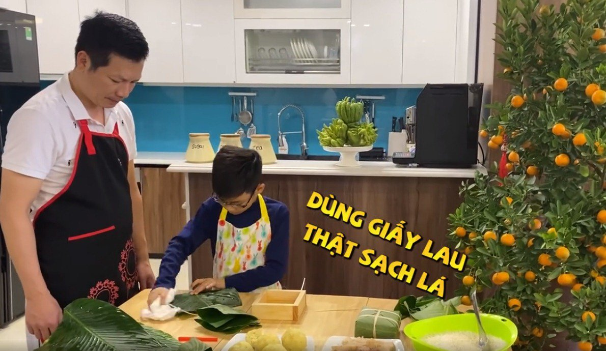 """shark hung day con trai goi banh chung, cu cau dang yeu """"gay sot"""" - 6"""