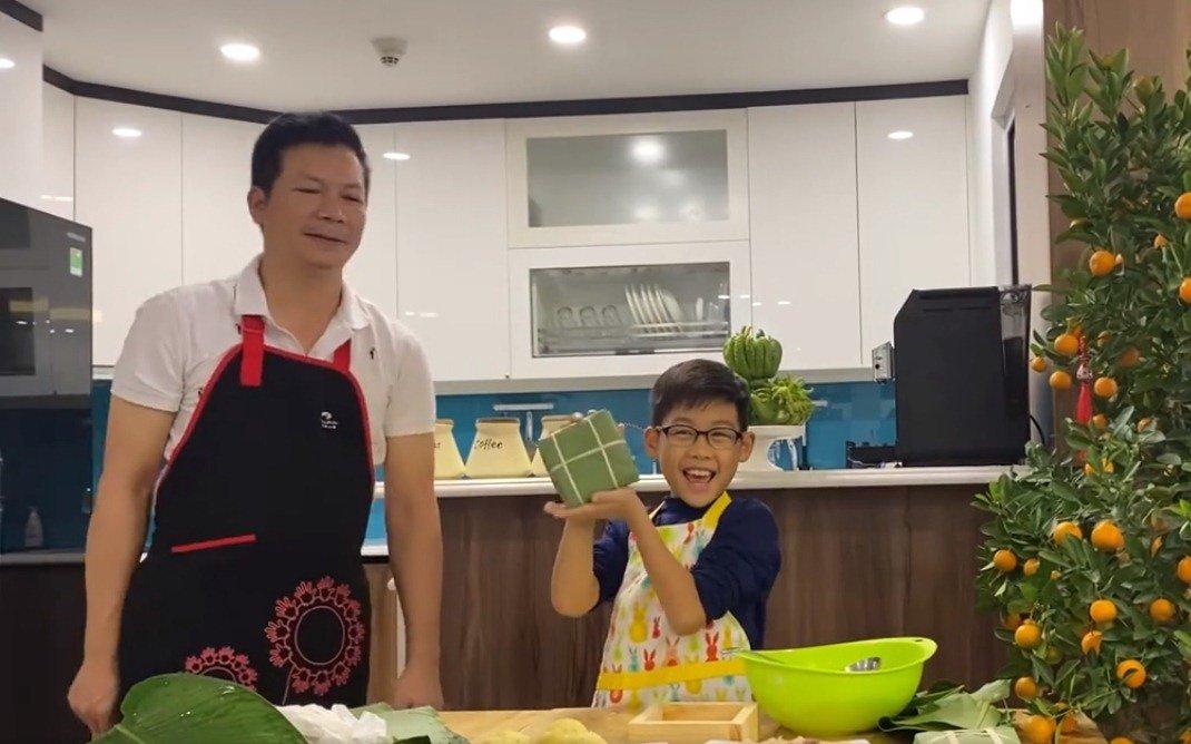 """shark hung day con trai goi banh chung, cu cau dang yeu """"gay sot"""" - 10"""