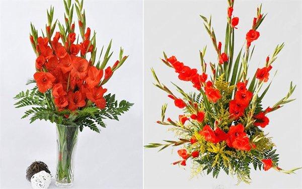 Cách cắm hoa lay ơn để bàn thờ đẹp và tươi lâu ngày Tết - 12