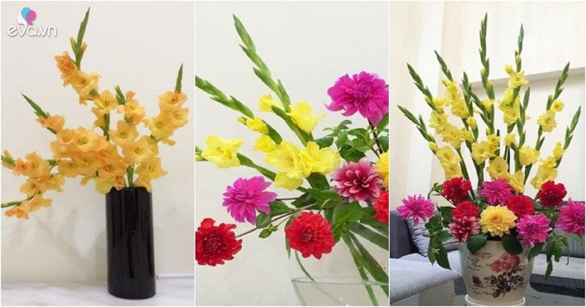 Cách cắm hoa lay ơn để bàn thờ đẹp và tươi lâu ngày Tết