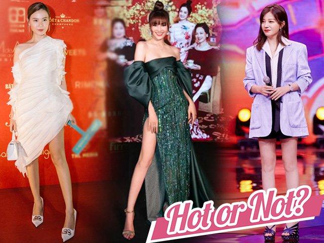 Đều diện váy khoe chân dài nuột nà, Lan Ngọc, Midu, Triệu Vy ai xứng danh Nữ hoàng thảm đỏ?