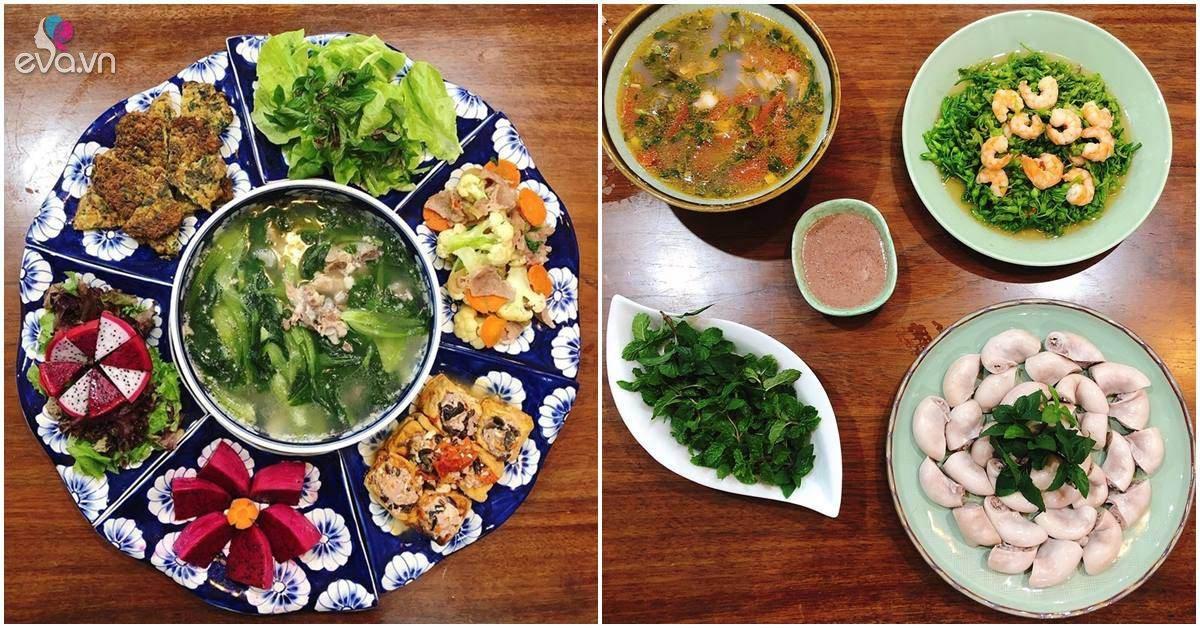 Mẹ Hà Nội làm mâm cơm bổ dưỡng dưới 150 nghìn/bữa, con trai thưởng thức tấm tắc khen