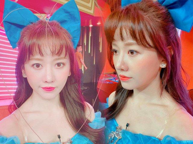 Hari Won trẻ trung xinh đẹp như công chúa tuyết khi dùng nơ cột tóc