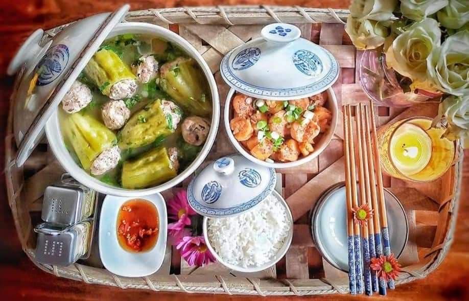 """nau canh bau don gian, me viet o my lam chi em thot len """"co can dep vay khong?"""" - 9"""