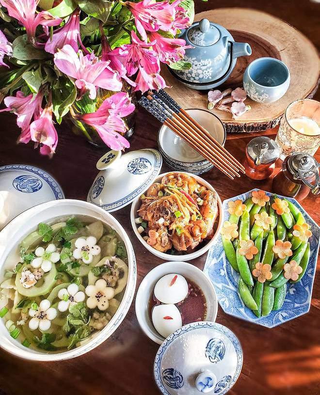 """nau canh bau don gian, me viet o my lam chi em thot len """"co can dep vay khong?"""" - 4"""