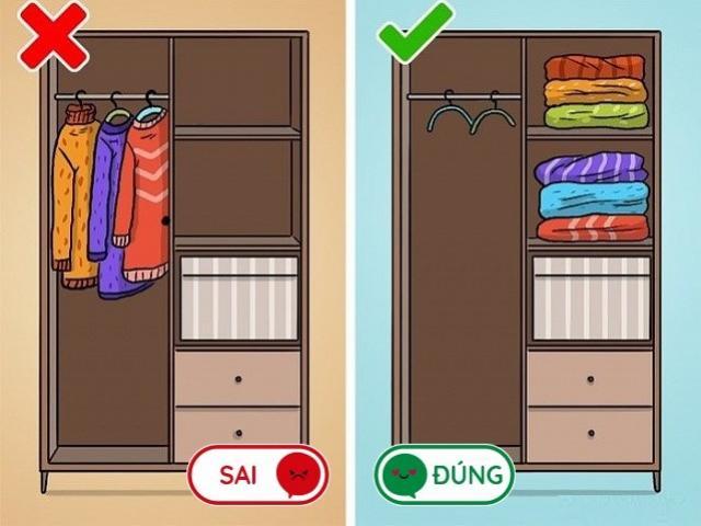 8 lỗi sai mà ai cũng làm khi cất quần áo vào tủ, lấy ra nhàu nhĩ như giẻ lau
