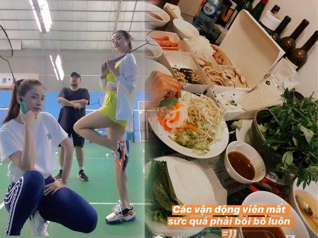 Ai cũng cần ăn cẩn thận để giữ dáng, riêng Chi Pu tập thể dục xong là ăn thả ga