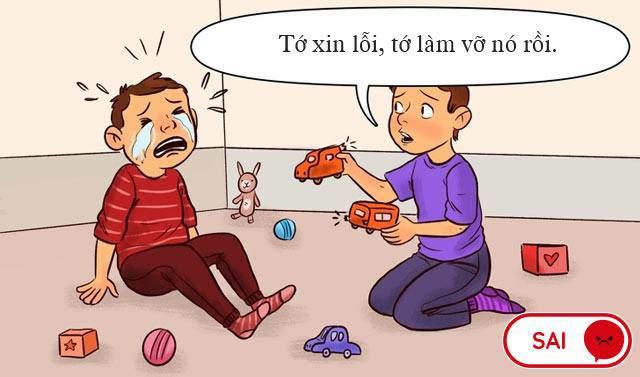 "yeu cau con ""xin loi"" la chua du, day la dieu bo me nen day khi con sai lam - 1"