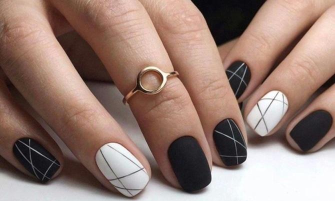 Năm 2021 đến rồi, mẫu nail màu đen ngỡ đơn giản cũng có trăm kiểu cho nàng thử quanh năm - 6
