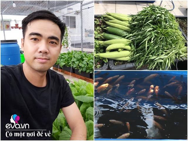 Ông bố Sài Gòn cẩu 2 xe tải đất lên sân thượng làm vườn ao chuồng, thành quả như mơ