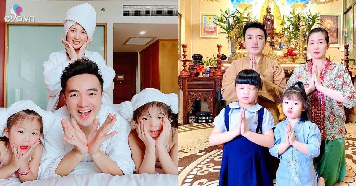 """Dương Ngọc Thái sung sướng làm bố lần 3, con gái hỏi mẹ: Có """"Cục vàng"""", tụi con là gì?"""