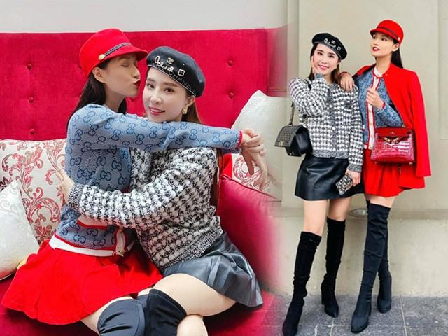 Chơi thân với nhau rập khuôn ăn diện, Quỳnh Nga-Lã Thanh Huyền nắm tay lên đời phong cách U40