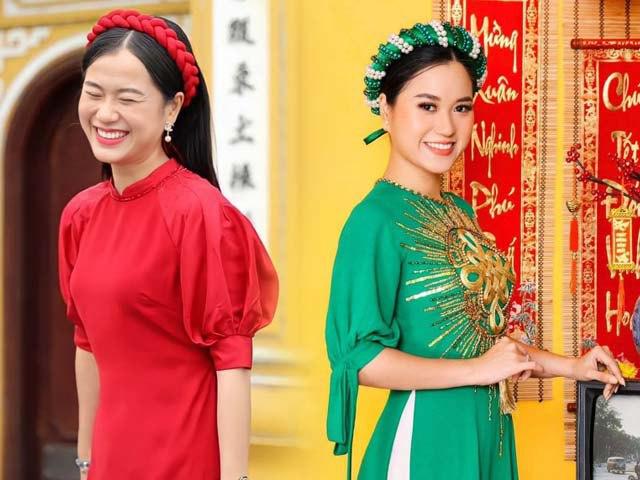 Chưa tới Tết mà ngắm Lâm Vỹ Dạ thả dáng với áo dài, chị em nào cũng thấy nôn nao