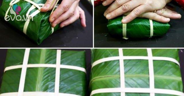 Cách gói bánh chưng bằng tay vuông đẹp không cần khuôn