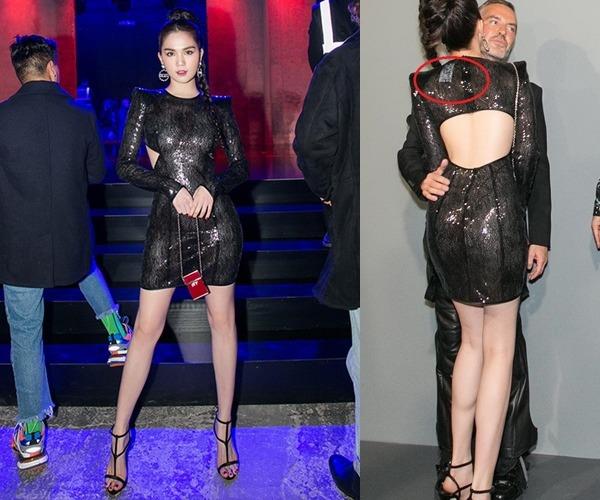 Angela Phương Trinh mặc đầm không gỡ nhãn mác - 5