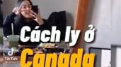 """Tiktok-trend: Cuộc sống của du học sinh cách ly dịch Covid 19 ở Canada được ghi lại cực """"chất"""""""
