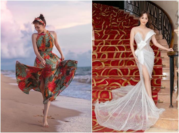 Công sức giảm chục ký đổ sông đổ bể: Khánh Thi lộ bụng tròn vo vì chọn nhầm kiểu váy - 3