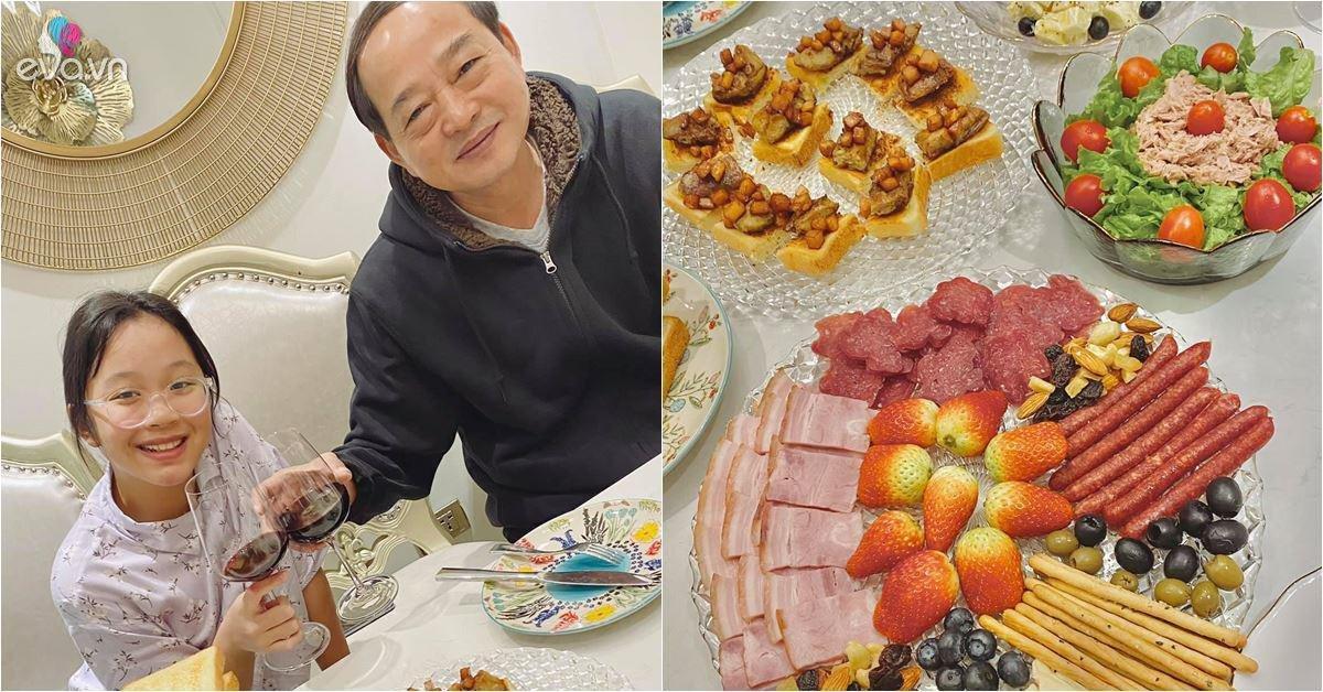MC VTV Diệp Chi nấu ăn mời bố ruột, dân mạng tấm tắc: Nhìn như nhà hàng 5 sao