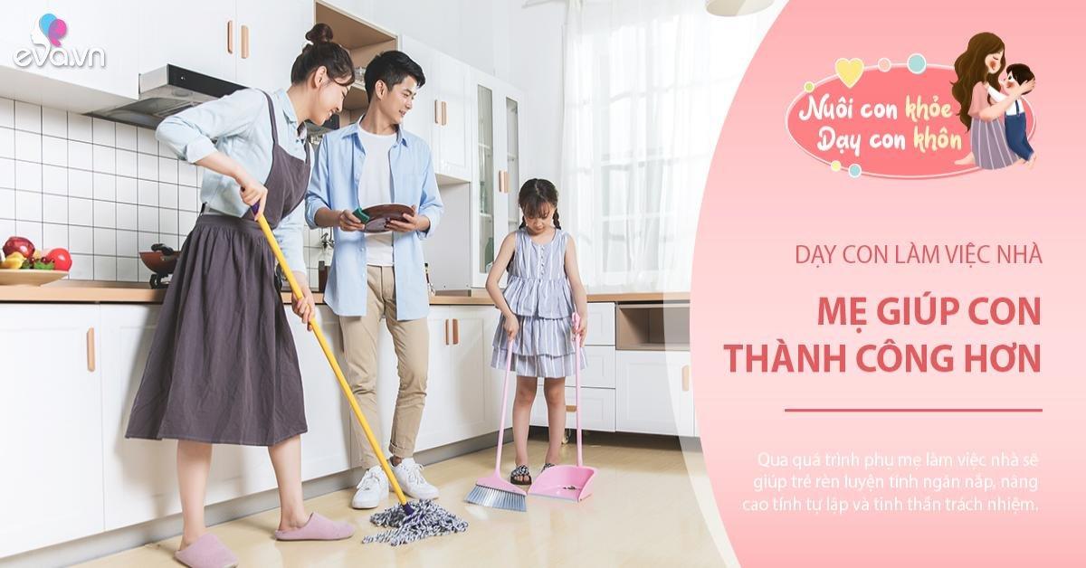 Mẹ lười mách 4 chiêu khiến con trở thành em bé chăm chỉ, ham thích làm việc nhà