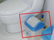 Thùng rác trong nhà vệ sinh phải có nắp, lý do đơn giản 99% đều làm sai