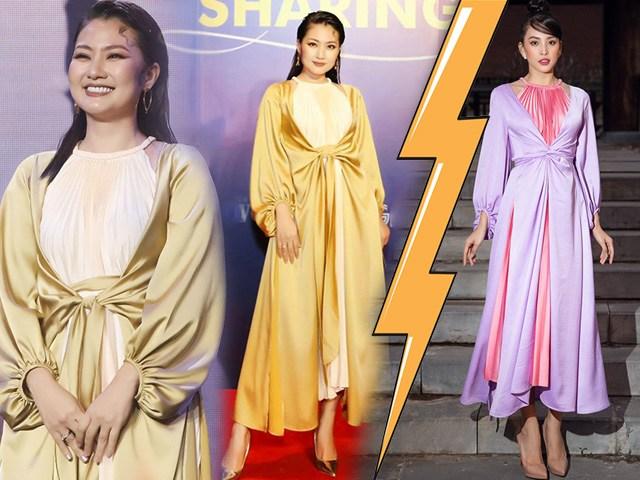 1 kiểu váy 2 số phận: Hội hoa hậu khoe dáng mảnh mai, riêng Ngọc Lan tròn trịa vì đâu?