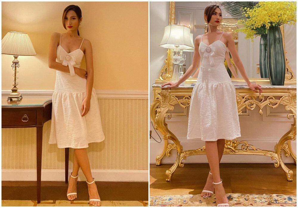 Từng bị chỉ trích vì mặc váy khoe cặp tuyết lê phản cảm, Hoa hậu 9X giờ hở tinh tế - 4