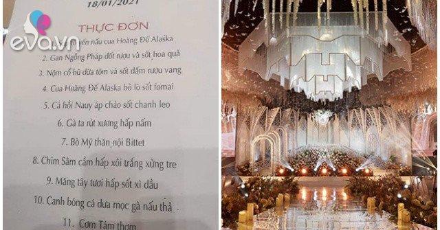Tiệc cưới trong lâu đài dát vàng nghìn tỉ ở Ninh Bình: Thực khách ngập trong sơn hào hải vị