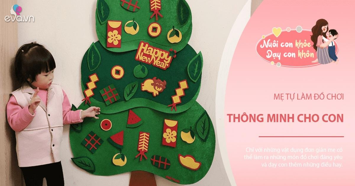 Tự làm đồ chơi giáo dục cho bé: Mẹ Việt mách làm cây quất vải dạ, Tết ai cũng khen