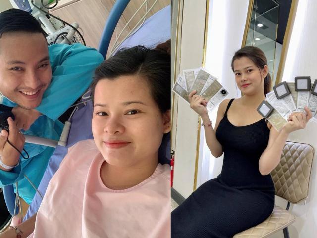 8X Sài Gòn đau đớn đẻ thường cặp song thai, sau sinh chồng tặng ngay 9 viên kim cương