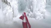 Ngắm xứ sở thần tiên mùa đông chỉ có màu trắng của băng và tuyết