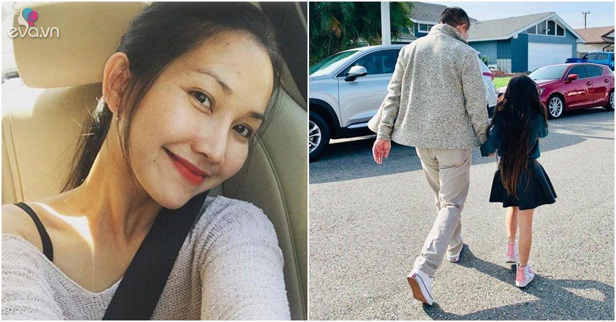 Kim Hiền khoe con gái 5 tuổi ở Mỹ, nhìn từ đằng sau vóc dáng đã xinh đẹp như hotgirl