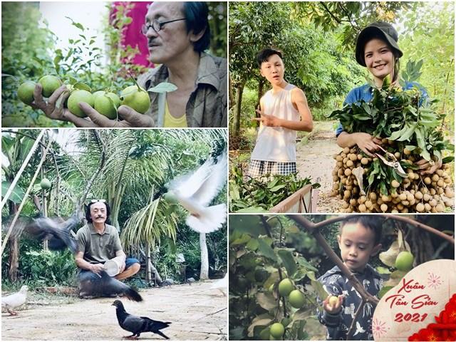 Mua nhà cách Hà Nội 30km nghỉ ngơi, nghệ sĩ Giang Còi Tết đội nón ra vườn nhặt cỏ