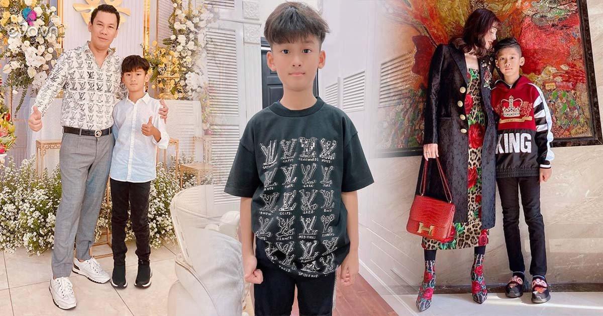 Con trai Lệ Quyên 9 tuổi mê giày hiệu, được bố đầu tư phong cách ăn mặc chuẩn rich kid